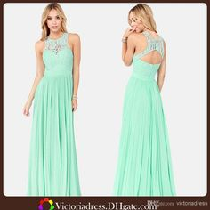 New Style Mint Bridesmaid Dresses Cheap 2015 Hot Sale Tank Straps Lace Jewel Neck Evening Gowns Floor Length Formal Long Chiffon Prom Dress