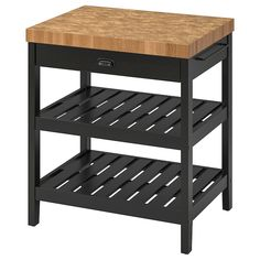 IKEA - FÖRHÖJA, Kitchen cart, birch, Gives you extra storage in your kitchen. Open storage with space for 9 bottles on each shelf.