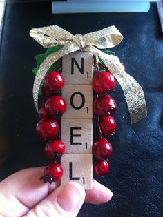 Perfectly Imperfect by Alicia Rose: Scrabble Ornaments