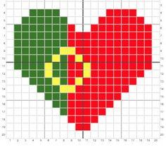 Portugal Flag Heart