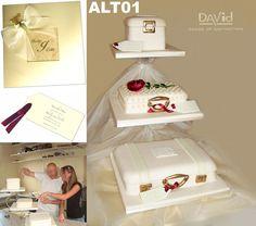 Lovely luggage cake