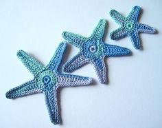 "Summer Bag Embellishment Ideas  ""Sea Star Applique Crochet Pattern - Starfish"""