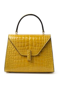 Alligator Iside Mini Top Handle by VALEXTRA for Preorder on Moda Operandi