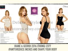 dea3b717cf5 Details about Faja Body Hilo - Panty Microfibra En Fajate D G2376 2377  Cachetero Frontal Hook