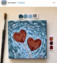 Disney Canvas Paintings, Cute Paintings, Small Canvas Art, Mini Canvas Art, Aesthetic Painting, Aesthetic Art, Kanvas Art, Painting Inspiration, Art Inspo