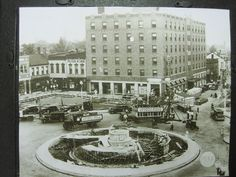 Hotel Bellevilleduring Construction Of The Memorial Fountain1937