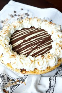 This delicious Chocolate Coconut Cream Pie combines the classic coconut flavors we all know and love with an indulgent dark chocolate drizzle.