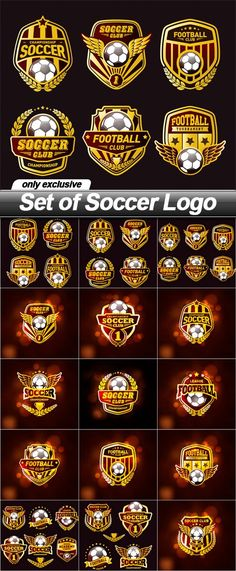 Set of Soccer Logo