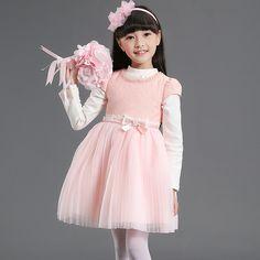 Wonder Flower Girl White Pearl Gauze Wedding Dress Knee Length Toddler Girl Tulle Princess Dress With Shrugs