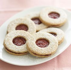 Raspberry Linzer Cookies Recipe by Fine Cooking Easter Cookies, Holiday Cookies, Raspberry Linzer Cookies Recipe, Easter Biscuits, Sweet Tarts, Cookies Ingredients, Relleno, Cookie Recipes, Food Processor Recipes