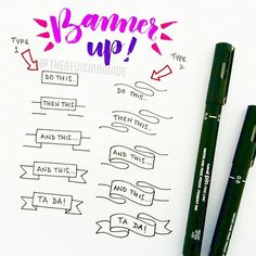 How to draw banners...