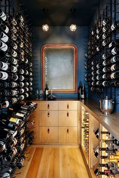 Breathtaking house with an entertainment barn in Sonoma's Wine Country Home Wine Cellars, Wine Cellar Design, Sonoma Wine Country, Under Stairs Cupboard, Wine Display, Wall Racks, Wine Storage, Storage Ideas, Bars For Home