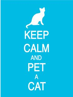 Keep Calm and Pet  A Cat Poster by PostersPersonalized on Etsy, $17.00