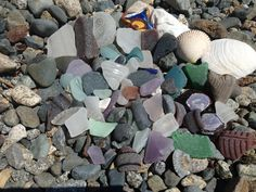 Some lucky sea glass finds