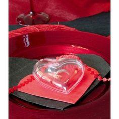 Coeur transparent de 8 cm pour dragées, chocolats, bonbons, déco, coeur plexi transparent à garnir pour fêtes et mariage.