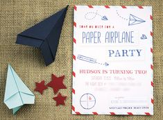 Vintage Inspired Paper Airplane Party // Hostess with the Mostess®