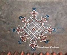 Indian Rangoli Designs, Rangoli Designs Flower, Rangoli Patterns, Rangoli Designs Images, Rangoli Ideas, Rangoli Designs With Dots, Kolam Rangoli, Flower Rangoli, Rangoli With Dots