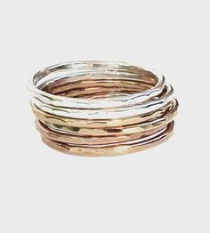 Ombre Stacking Rings