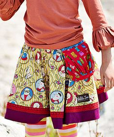 Tan & Plum Self-Portrait Skirt - Toddler & Girls by Matilda Jane Clothing #zulily #zulilyfinds