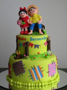 Bolo Chico Bento e Rosinha by A de Açúcar Bolos Artísticos, via Flickr