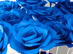 Coloured paper roses for bride or bridesmaid's bouquets