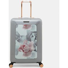 Porcelain Rose medium suitcase ❤ liked on Polyvore featuring bags and luggage
