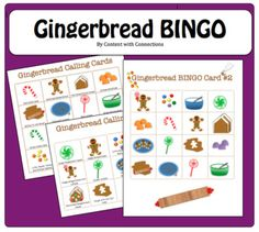 Looking for a quick and easy game for your winter party--something festive, but not necessarily Christmas/Hanukkah/Kwanzaa?Wrapping up a study of of The Gingerbread Man, The Gingerbread Boy, or The Gingerbread Baby? Christmas Hanukkah, Christmas Party Games, Holiday Parties, Winter Christmas, Gingerbread Man Book, Gingerbread Man Activities, Christmas Gift For Your Boyfriend, Calling Cards, Bingo Cards