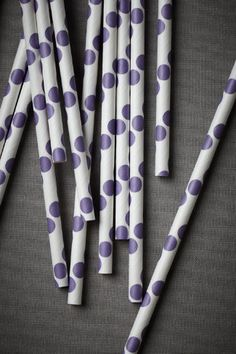 polka-dot straws. cute!