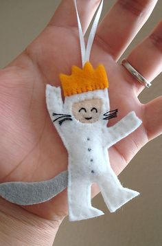 Max ornament from Where the Wild Things Are. No tutorial, but I think this could be quite simple to do...