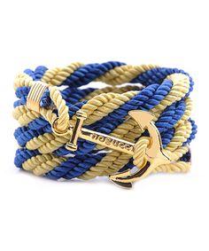 This Joseph Nogucci Yellow & Blue Anchor Wrap Bracelet by Joseph Nogucci is perfect! #zulilyfinds