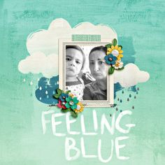 cute layout for someone that you're missing. feeling blue by nikibex @2peasinabucket