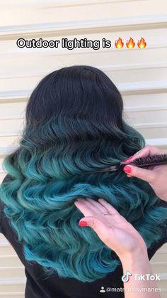 #curls #hairstyles #hairgoals #volume #waves #vintagewedding #vintagehair #tiktok #tutorial #hairtransformation #bridalhair #hairstyleideas #hairgoals Volume Hairstyles, Curled Hairstyles, Wedding Hairstyles, Wavy Wedding Hair, Long Wavy Hair, Bridal Hair, Vintage Waves Tutorial, Hair Curling Tutorial, Light Blue Hair