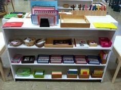 Montessori Primary language program: reading shelves