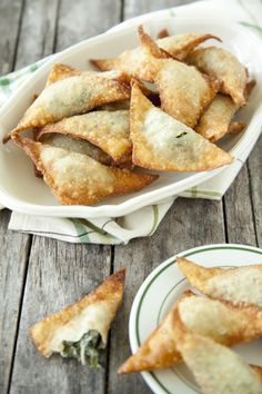 fried collard green wontons (from Paula Deen, but easy to make veggie/healthy)