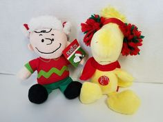 """NWT MUSICAL CHARLIE BROWN& WOODSTOCK  PEANUTS PLUSH  9"""" CHRISTMAS  