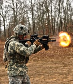 FORT CAMPBELL, Ky. (Feb. 17, 2012) -- It weighs 3.5 pounds, has a barrel length of 7.75 inches, fires 12-gauge shells and can be mounted on the M4 carbine or act as a standalone firearm. The M26 Modular Accessory Shotgun System is the latest combat enhancer in Strike's arsenal.  http://www.army.mil/article/74101/101st_Airborne_s__Strike__brigade_first_Army_unit_issued_M26_shotgun/