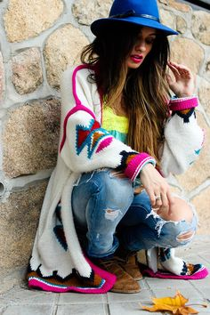 Bright colors and comfy.
