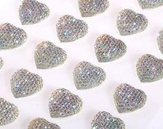 CraftbuddyUS CB046 SW 24pcs 16mm Self Adh AB CLEAR Diamante Rhinestone Bubble Heart Gems >>> More info could be found at the image url.