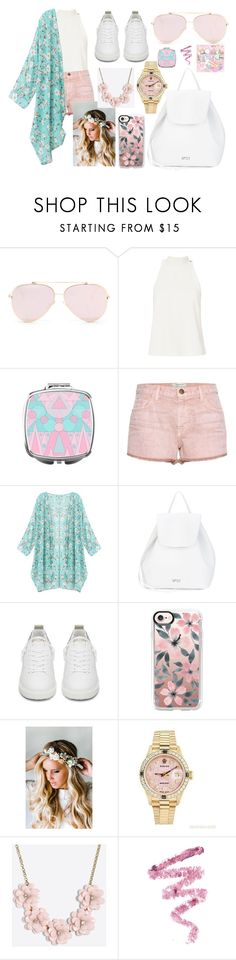 """""""Spring Flowers"""" by blue99star on Polyvore featuring A.L.C., Current/Elliott, N°21, Golden Goose, Casetify, Emily Rose Flower Crowns, Rolex, J.Crew and Cynthia Rowley"""