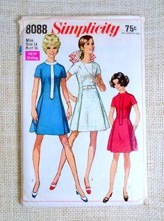 Simplicity 8088 Vintage Dress Pattern by momandpopcultureshop
