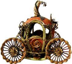 Pumpkin, twigs, leaf and seed pod carriage.