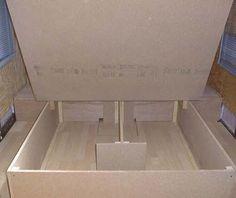 Add struts for easy lift storage under my king sized bed. Lift Storage Bed, Platform Bed With Storage, Platform Bed Frame, Under Bed Storage, Diy Pallet Bed, Diy Bed, Bed Frame Design, Built In Bed, King Bed Frame
