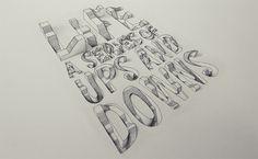 3D-Typografie von Lex Wilson - Zeichnungen vom Allerfeinsten [LangweileDich.net]