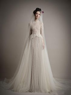 2016 Ersa Atelier full Lace Tulle High Neck Long Sleeve Wedding Dresses Fashion Detachable Skirt two pieces A-line Wedding Gown with belt 2015 Wedding Dresses, Bohemian Wedding Dresses, Bridal Dresses, Wedding Gowns, Weeding Dresses, Muslim Wedding Dresses, Dresses 2014, Wedding 2015, Event Dresses