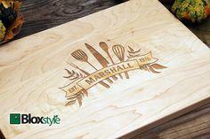 Personalized/ Engraved Cutting Board W/ Kitchen Utensils Design 11x16 ,9x12…