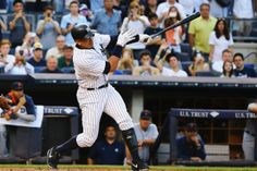 NEW YORK, NY - JUNE 19: Alex Rodriguez #13 of the New York Yankees hits a home run as well as getting his 3000th career hit in the first inning against the Detroit Tigers during their game at Yankee Stadium on June 19, 2015 in New York City. (Photo by Al Bello/Getty Images)