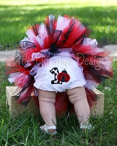Ladybug themed Girl's First Birthday by LilDarlingsDesigns on Etsy, $14.00