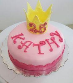 Birthday Cake with Crown Topper 25th Birthday Cakes, Crown Cake, Alchemy, Baking, Desserts, Food, Tailgate Desserts, Deserts, Bakken