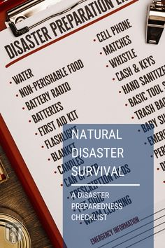 The key to natural disaster survival is meticulous emergency preparedness. Ensure you and your family are safe long before disaster strikes. #NaturarDisaster #survival #family #safe #preparedness