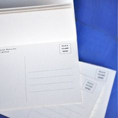 Blank Watercolor Paper Postcards